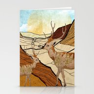Desert Deers Stationery Cards