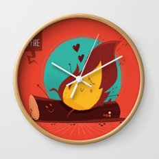 :::Love is on the fire::: Wall Clock