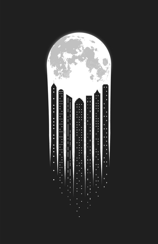Moon-City Canvas Print