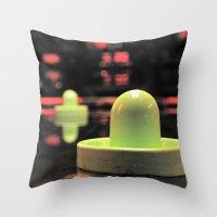 Arcade bokeh Throw Pillow