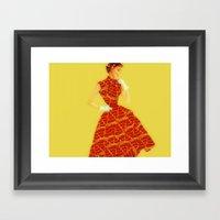 Pizza Dress Framed Art Print
