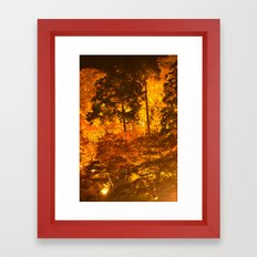 Japanese Autumn Garden Framed Art Print