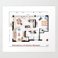 Floorplan Of Dexter Morg… Art Print