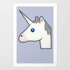 Unicorn emoji Art Print