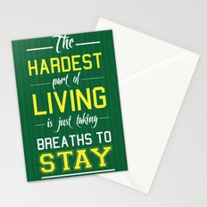 The Hardest Part Of Living Stationery Cards