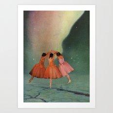 Dance of the Northern Lights Art Print