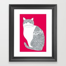 Pink-Cat Framed Art Print