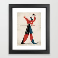 Cassius Play Framed Art Print