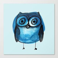 Blue Owl Boy Canvas Print