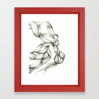 Whimsical Braids Framed Art Print