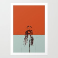 Woman Color 2 Art Print
