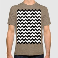 Chevron. Mens Fitted Tee Tri-Coffee SMALL