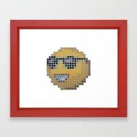 Emoticon Cool Framed Art Print