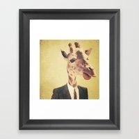 Humanimal: Giraffe  Framed Art Print