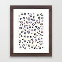 Navy & Coral Crystals Framed Art Print