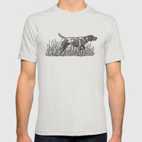 Pointer in Color Mens Fitted Tee Silver SMALL