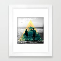 Shape Of The Ocean Framed Art Print