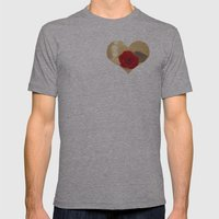 Romance Novel Mens Fitted Tee Athletic Grey SMALL