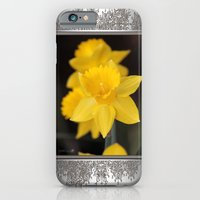iPhone & iPod Case featuring Trumpet Daffodil named Exception by JMcCombie