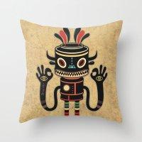 Tribe Gathering Throw Pillow
