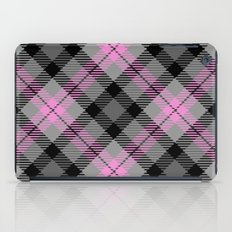 Pink and Gray Plaid iPad Case