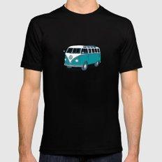 VW Campervan II SMALL Mens Fitted Tee Black