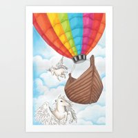 PEGASUS and RAINBOW AIR BALLON Art Print