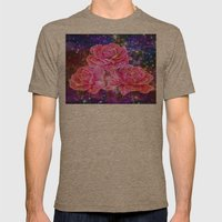 Roses With Sparkles And … Mens Fitted Tee Tri-Coffee SMALL