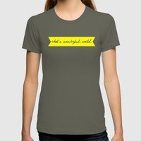 What A Wonderful World Womens Fitted Tee Lieutenant SMALL