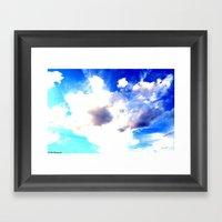 Blue Skies Will Never Fa… Framed Art Print