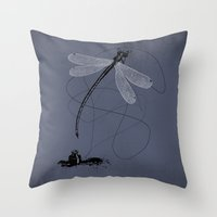 Here, There & Back Again (P). Throw Pillow