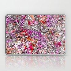 Modern Red Purple Waterc… Laptop & iPad Skin