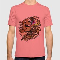 Anacleto! Mens Fitted Tee Pomegranate SMALL