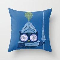 Knight Owl Throw Pillow