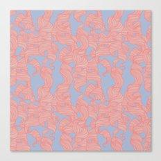 Trailing Curls // Pink & Blue Pastels Canvas Print