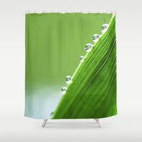 On The Edge Of Green - W… Shower Curtain