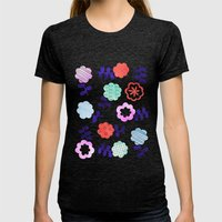 Daisy Dallop Womens Fitted Tee Tri-Black SMALL