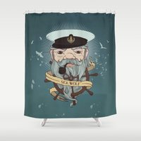 Sea Wolf 2 Shower Curtain