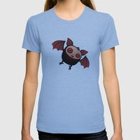 RedEye the Vampire Bat Boy Womens Fitted Tee Athletic Blue SMALL