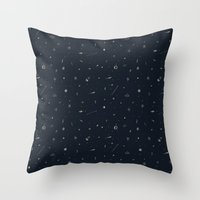 space pattern Throw Pillow