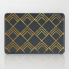 Diamond Art Deco; - Black & Gold  iPad Case