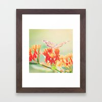 Happiness Is A Butterfly Framed Art Print