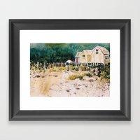 fish shacks Framed Art Print