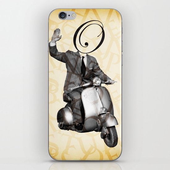 Mr O on his vespa iPhone & iPod Skin