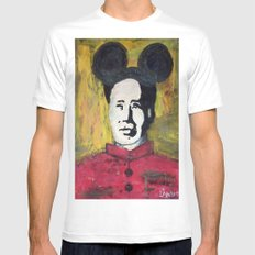 MICKEY MAO SMALL White Mens Fitted Tee