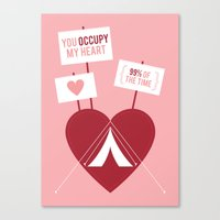 Occupy My Heart Canvas Print