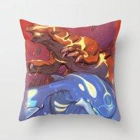 Omega Ruby & Alpha Sapphire Throw Pillow