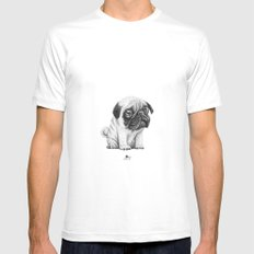 Pug Pug 01 Mens Fitted Tee White SMALL