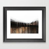 Antique Icicles  Framed Art Print