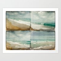 Sea and Waves mosaic Art Print